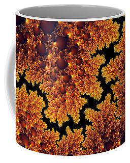 Golden And Black Fractal Universe Coffee Mug