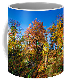 Golden Autumn On Neurathen Castle Coffee Mug