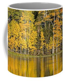 Golden Autumn Pond Coffee Mug
