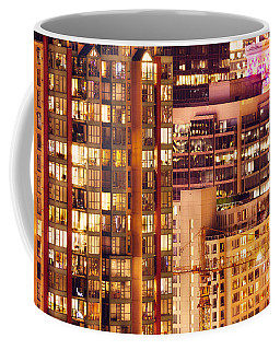 Coffee Mug featuring the photograph City Of Vancouver - Golden City Of Lights Cdlxxxvii by Amyn Nasser