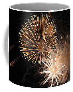 Golden Fireworks Coffee Mug