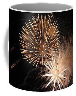Coffee Mug featuring the photograph Golden Fireworks by Rowana Ray