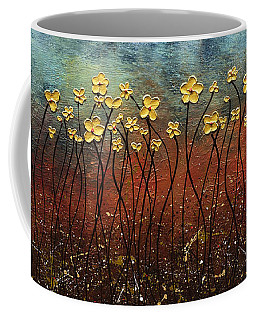 Golden Flowers Coffee Mug