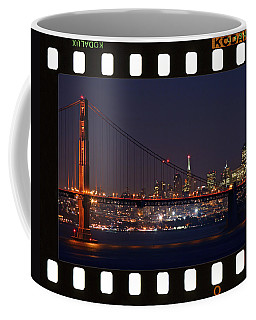 Coffee Mug featuring the photograph Golden Gate 35mm Frame by Christopher McKenzie