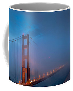Golden Gate At Blue Hour Coffee Mug