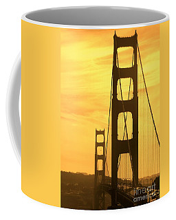 Golden Gate Bridge  Coffee Mug by Clare Bevan