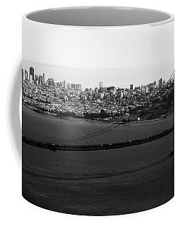 Golden Gate Bridge In Black And White Coffee Mug
