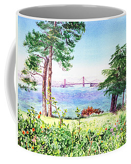 Golden Gate Bridge View From Lincoln Park San Francisco Coffee Mug