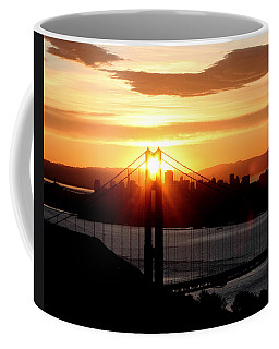 Coffee Mug featuring the photograph Golden Gate Sunrise 12-2-11 by Christopher McKenzie