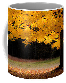 Golden Glow Of Autumn Fall Colors Coffee Mug by Jeff Folger