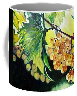 Coffee Mug featuring the painting Golden Grapes by Julie Brugh Riffey