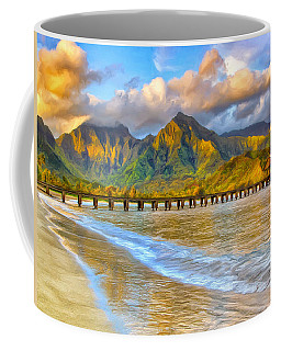 Golden Hanalei Morning Coffee Mug