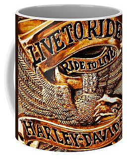 Golden Harley Davidson Logo Coffee Mug