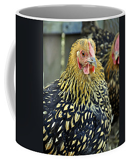 Golden Laced Wyandotte Chicken Closeup Art Prints Coffee Mug by Valerie Garner