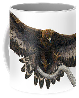 Coffee Mug featuring the painting Golden Landing by Pat Erickson