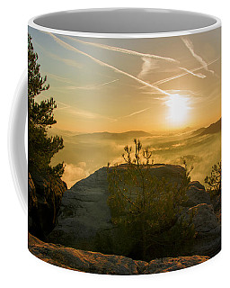 Golden Morning On The Lilienstein Coffee Mug
