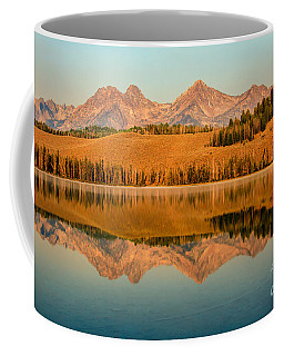 Golden Mountains  Reflection Coffee Mug
