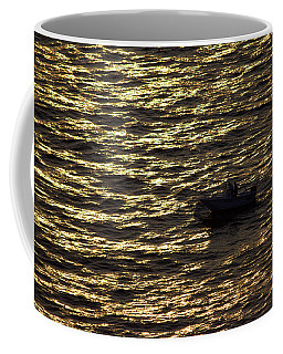 Coffee Mug featuring the photograph Golden Ocean by Miroslava Jurcik