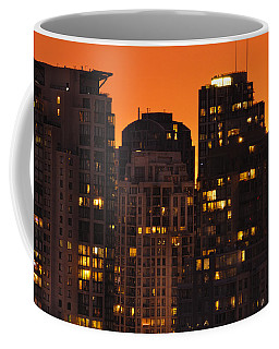 Coffee Mug featuring the photograph Golden Orange Cityscape Dccc by Amyn Nasser