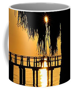 Coffee Mug featuring the photograph Golden Pier Panorama by Richard Zentner