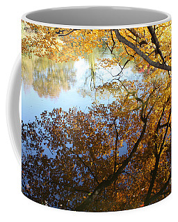 Coffee Mug featuring the photograph Golden Reflection by John Telfer