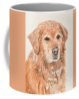 Golden Retriever In Snow Coffee Mug