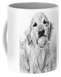 Golden Retriever With Ball Coffee Mug by Kate Sumners