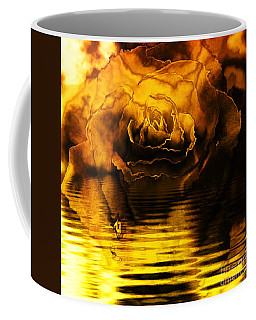 Golden Rose On The Lake Coffee Mug