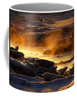 Golden Sea Smoke At Sunrise Coffee Mug
