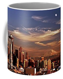 Golden Seattle Coffee Mug