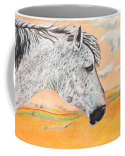 Coffee Mug featuring the painting Golden Sky by Jeanne Fischer