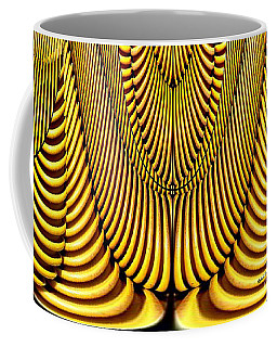 Coffee Mug featuring the painting Golden Slings by Rafael Salazar