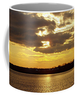 Coffee Mug featuring the photograph Golden Sunset by John Telfer