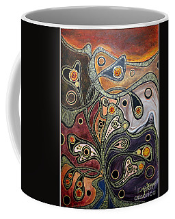 Golden Thought Coffee Mug by Jolanta Anna Karolska