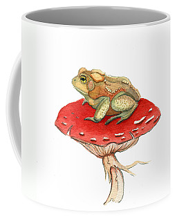 Coffee Mug featuring the painting Golden Toad by Katherine Miller