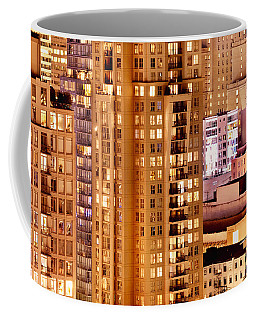 Coffee Mug featuring the photograph Golden Vancouver Cityscape Cdxii By Amyn Nasser by Amyn Nasser