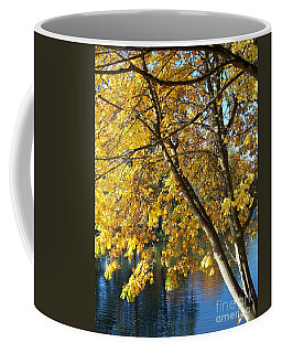 Coffee Mug featuring the photograph Golden Zen by Chalet Roome-Rigdon
