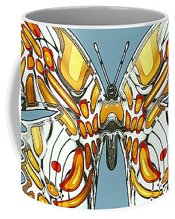 Goldfly Butterfly Coffee Mug