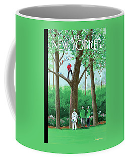 Golfer Making A Shot In A Tree While Different Coffee Mug