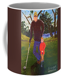 Coffee Mug featuring the painting Golfing by Donald J Ryker III