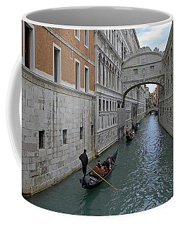 Gondolas Under Bridge Of Sighs Coffee Mug