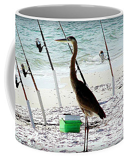 Coffee Mug featuring the photograph Gone Fishing by Debra Forand