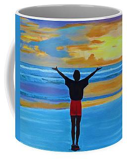 Coffee Mug featuring the painting Good Morning Morning by Deborah Boyd