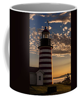 Good Morning West Quoddy Head Lighthouse Coffee Mug by Marty Saccone