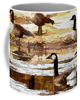 Goose Abstract Coffee Mug