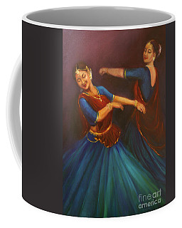 Gopis Dancing To The Flute Of Krishna Coffee Mug