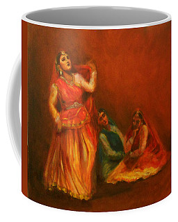 Gopis Distressed As Krishna Is Not Seen Coffee Mug