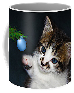 Gorgeous Christmas Kitten Coffee Mug
