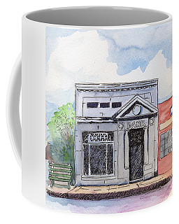 Coffee Mug featuring the painting Gosport Bank by Katherine Miller