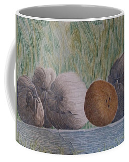 Coffee Mug featuring the painting Gossip by A  Robert Malcom